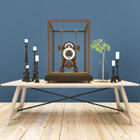 3d rh loft decor set