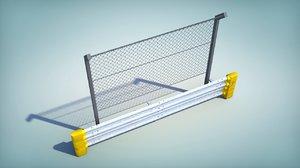 3d model fence barrier