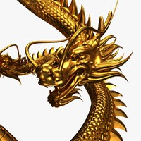 chinese dragon obj