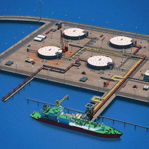 3d lng terminal port
