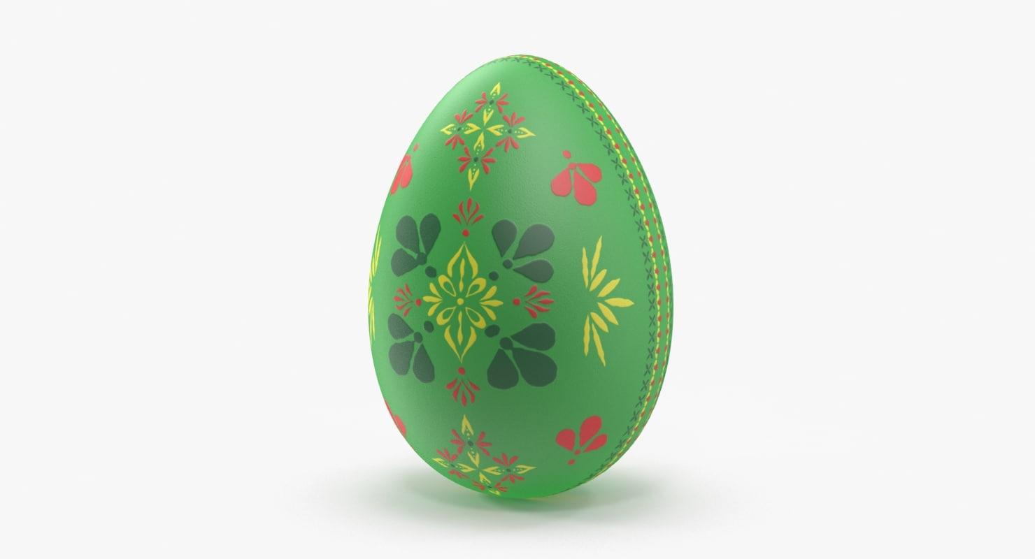 german easter egg green 3d max