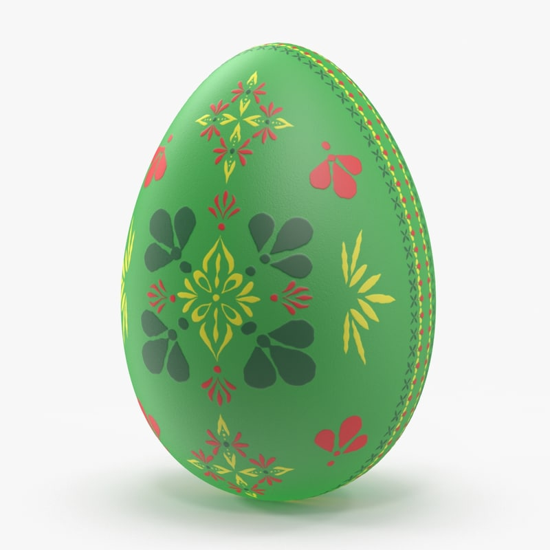 german easter egg green 3d max