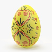 3d german easter egg yellow