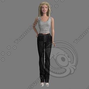 3d model barbie doll nude
