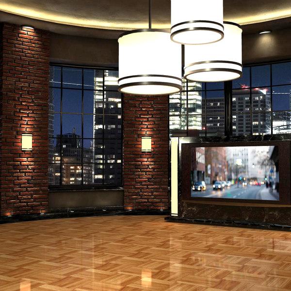3d virtual set studio - model