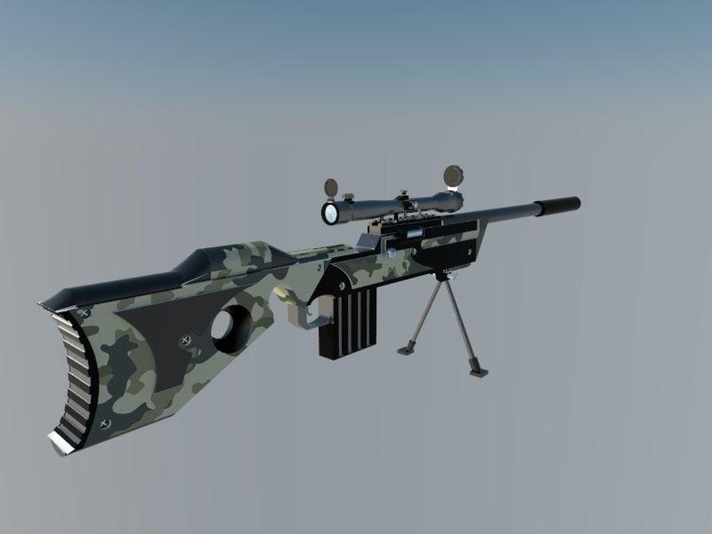 rifle gun 3d 3ds