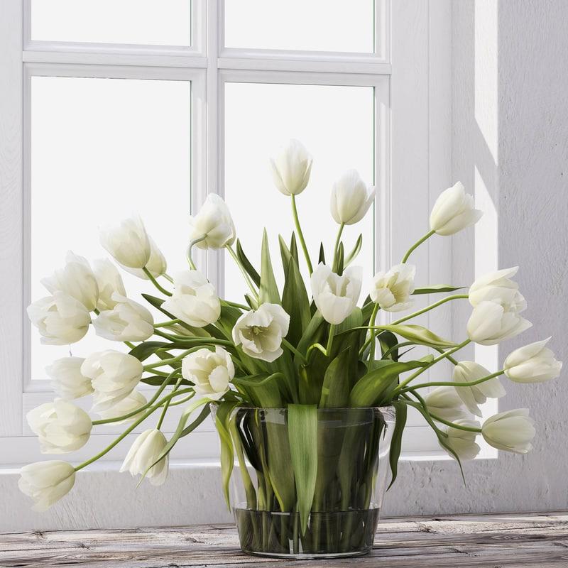 3d model tulip bouquet