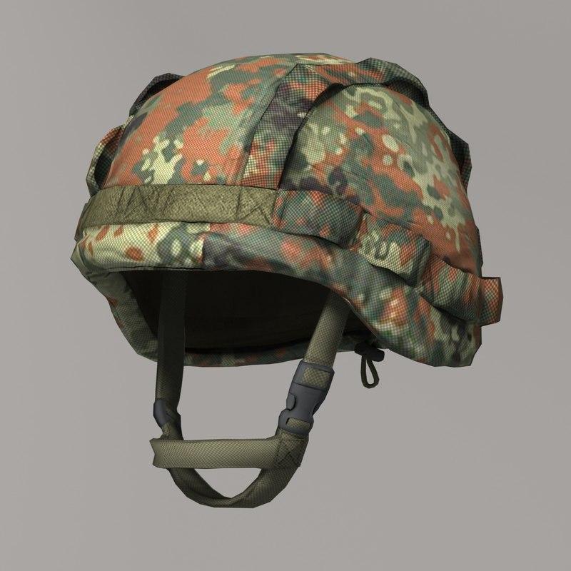 qualitative military bundeswehr helmet 3d max