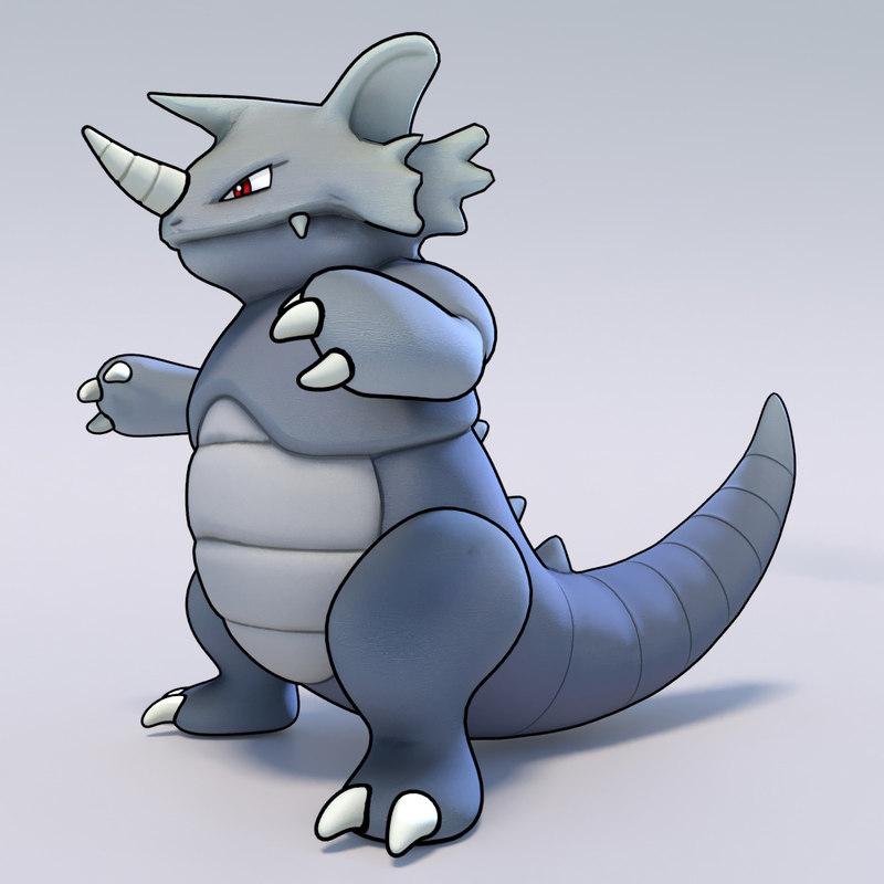 3d rhydon pokemon model