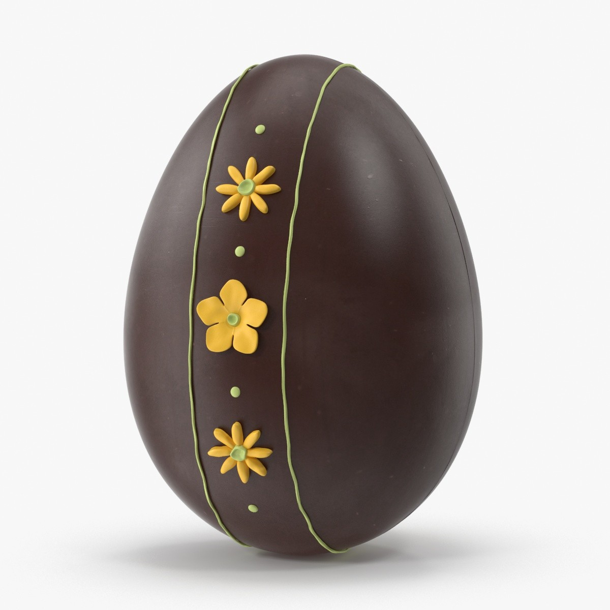 decorated chocolate eggs yellow 3d max