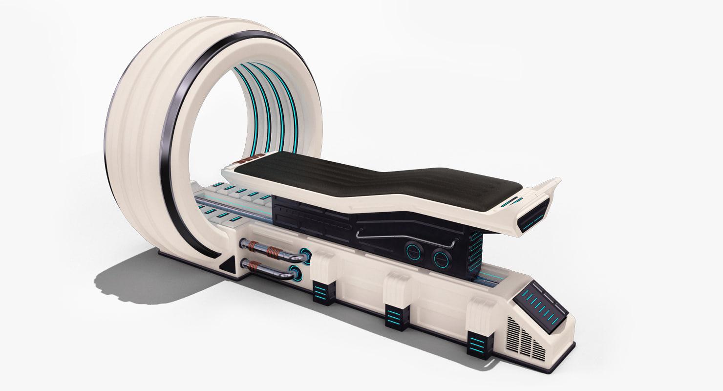sci fi mri 3d model