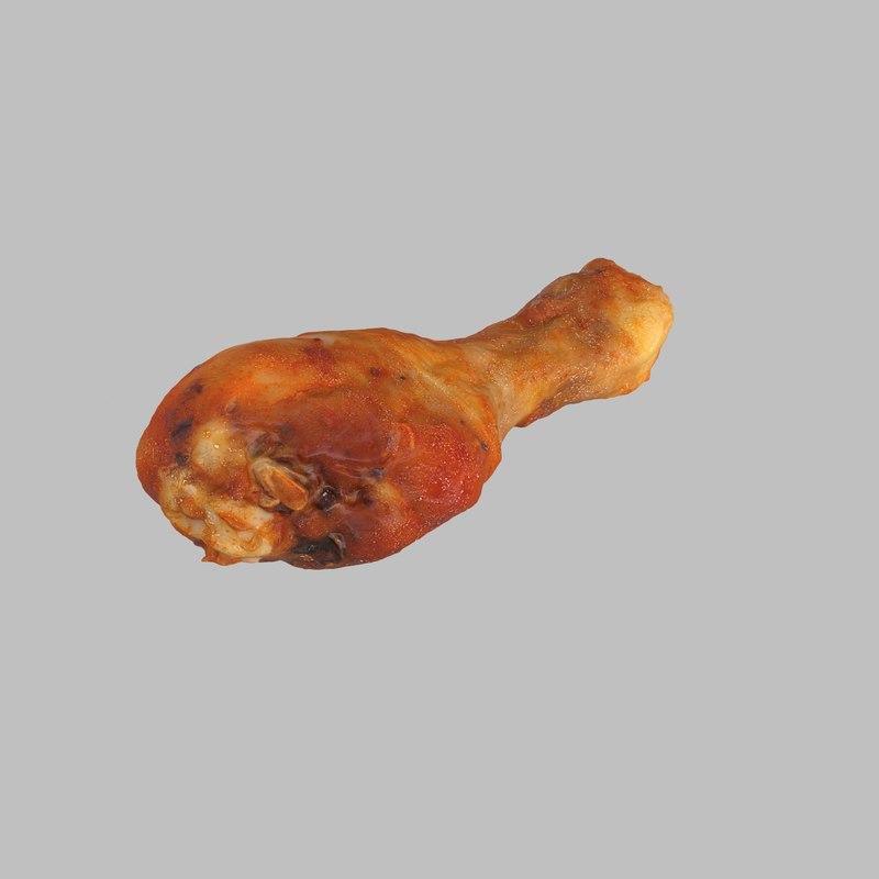 3d roasted chicken leg
