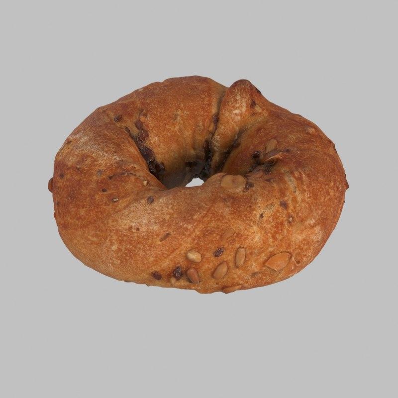 rustic bread 3d max
