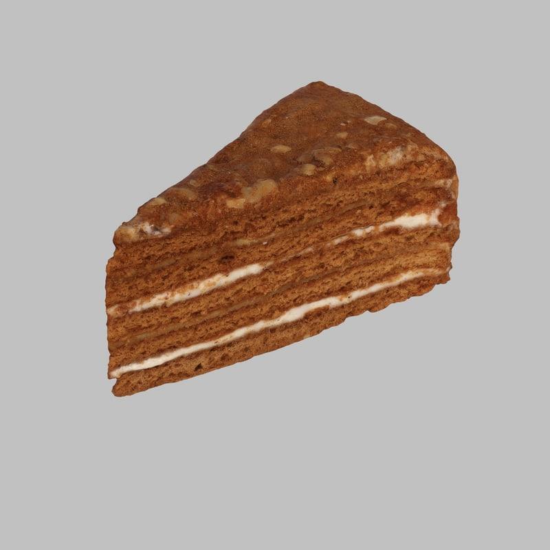 max photoreal honey cake