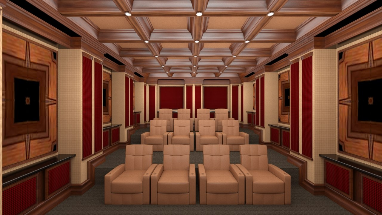 3d home theater model