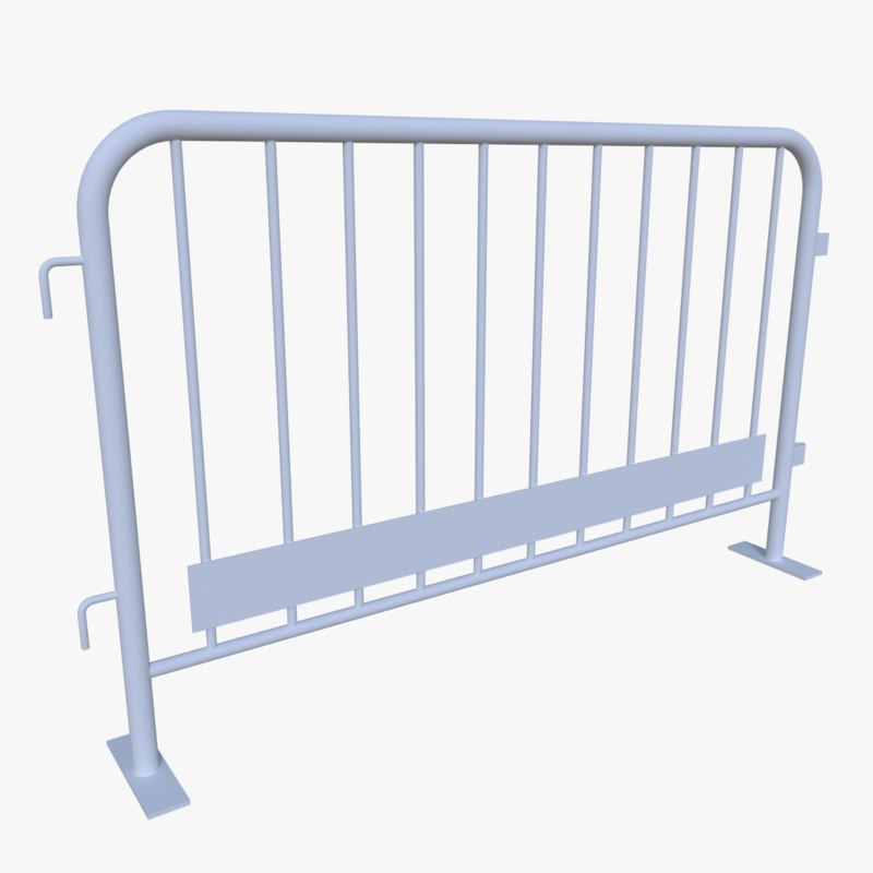 crowd barrier 3d model
