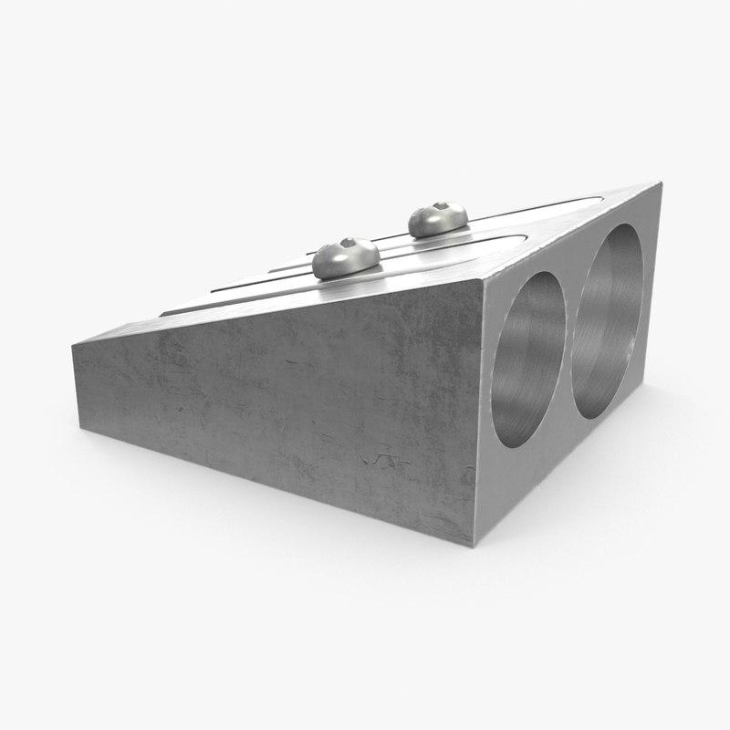 prism pencil sharpener 3d model