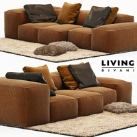 sofa extrasoft living divani 3d model