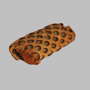 chocolate coconut pastry 3d model