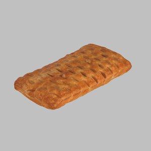 cherry pastry 3d model