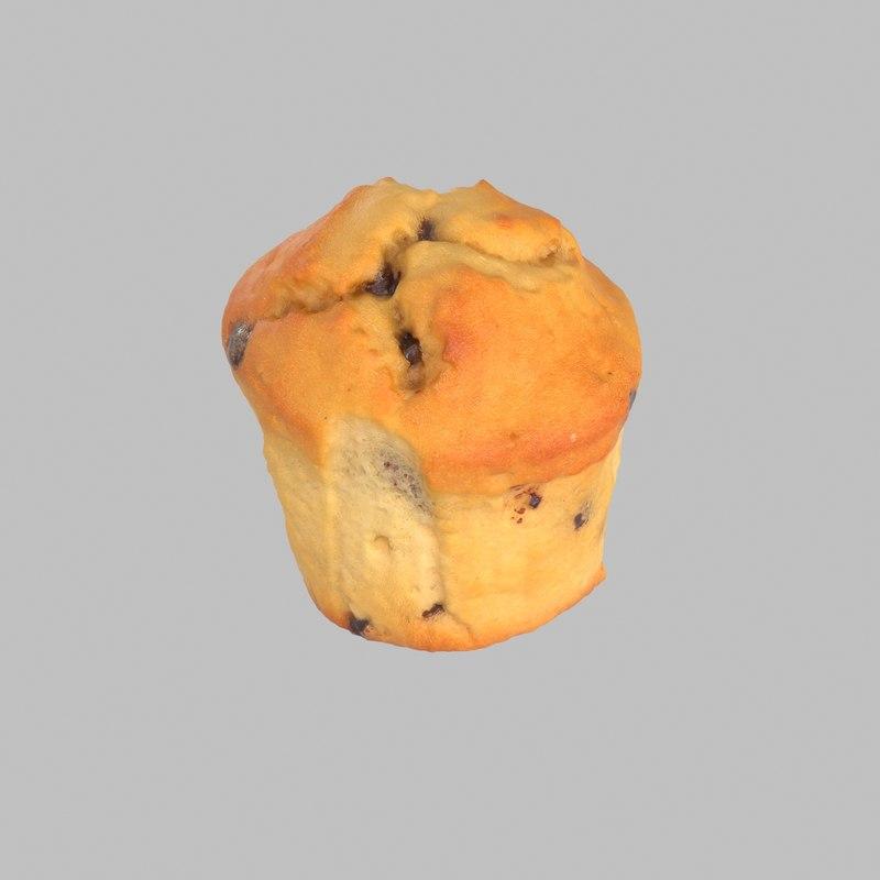 3d muffin chocolate vanilla