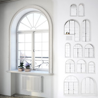 Classic arched windows set