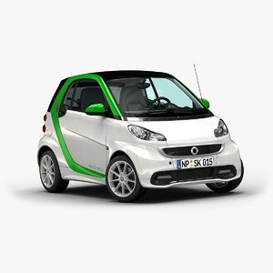 2015 smart fortwo electric 3d 3ds
