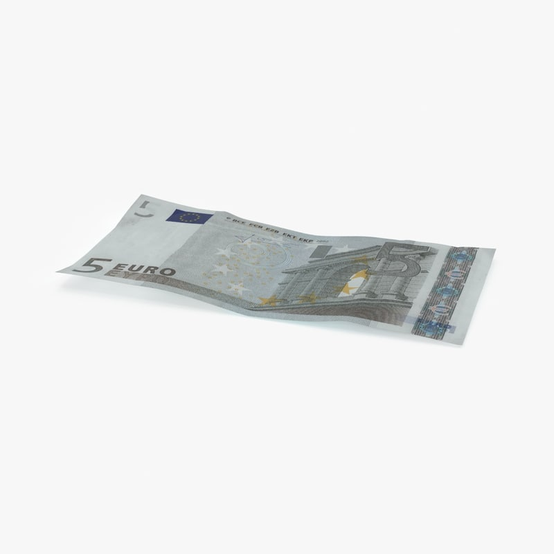 5 euro bill single 3d max