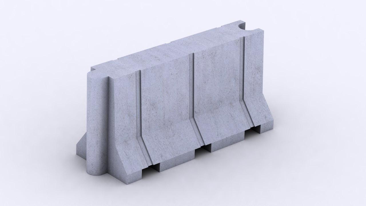jersey barrier 3ds