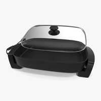 3d electric skillet glass cover model
