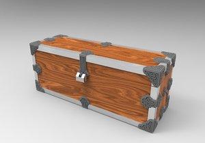 chest wood metall obj