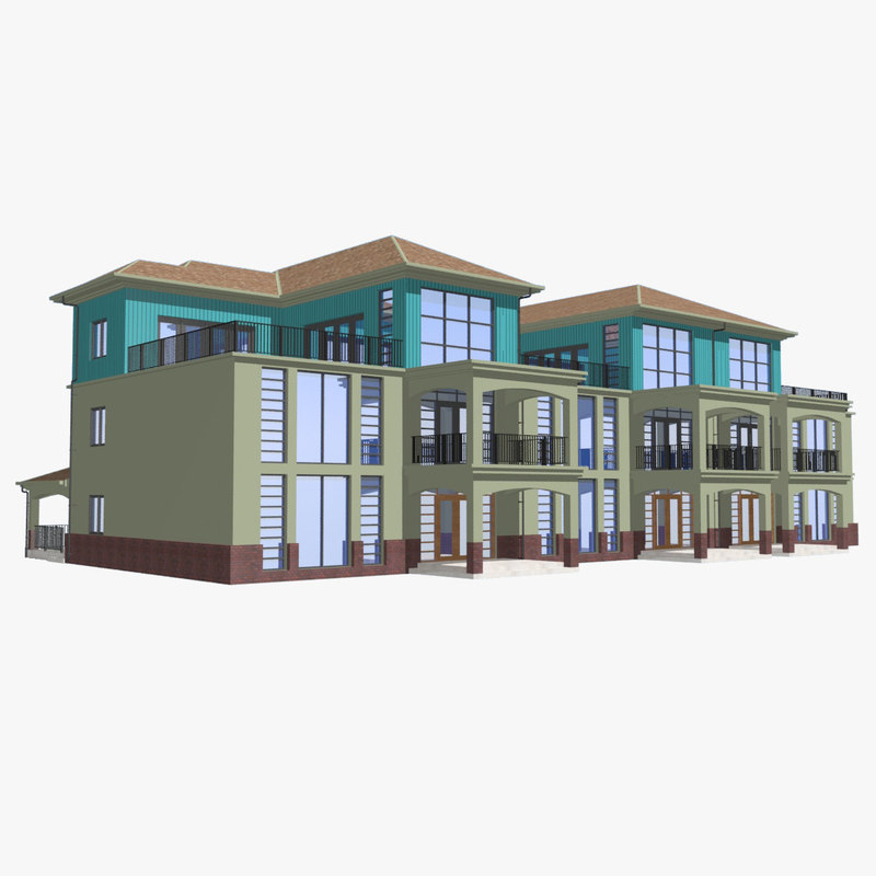 3ds townhouse designed