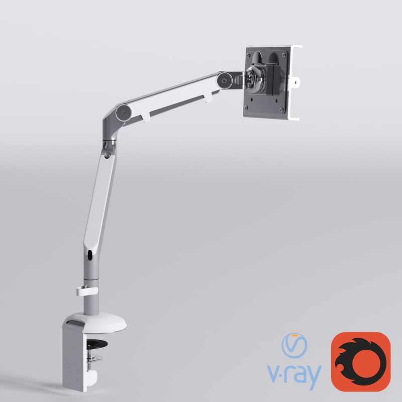 humanscale m2 monitor arm 3d model