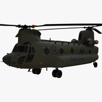 boeing ch-47 chinook 3d model