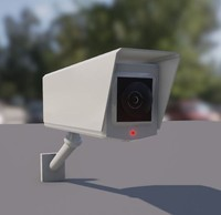 3d model of wall-mounted cctv camera