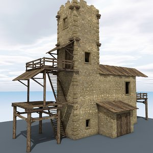 abandoned tower 3d max