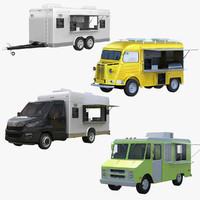 food truck van 3d model