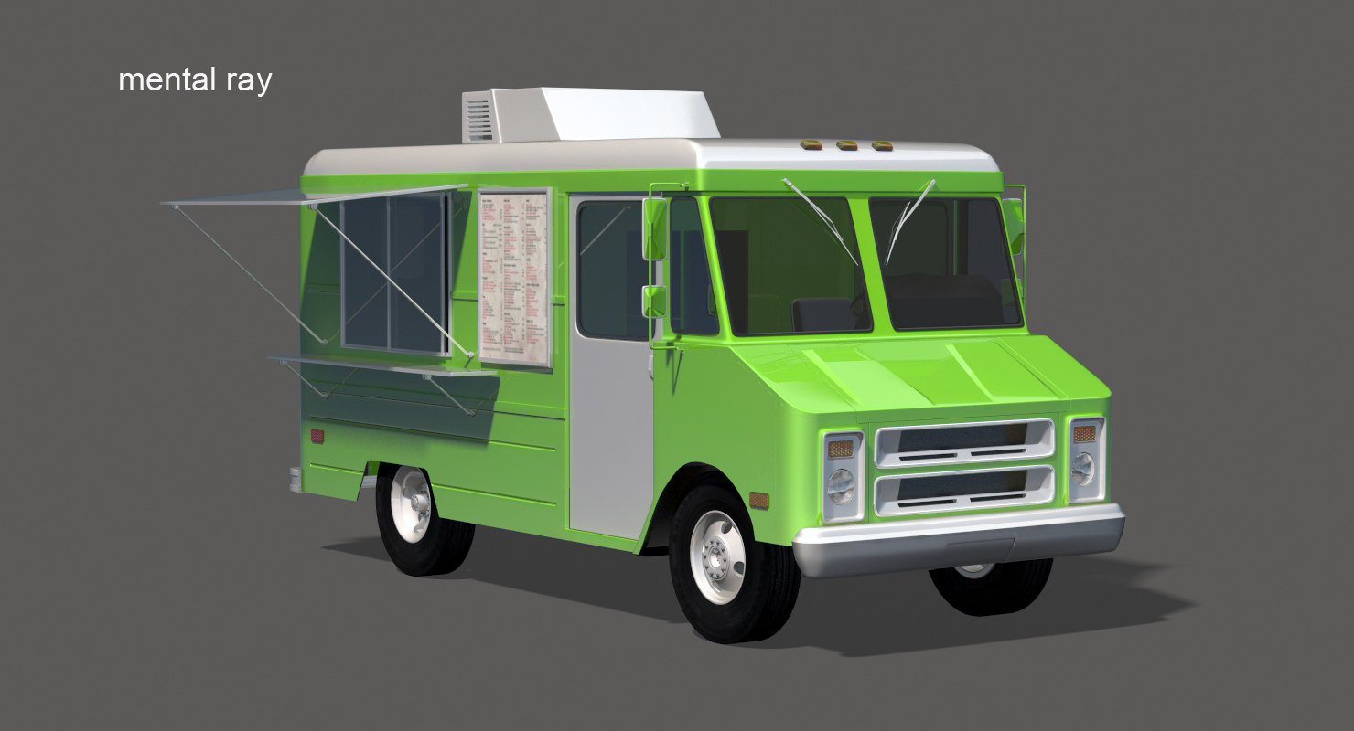 3d food truck van