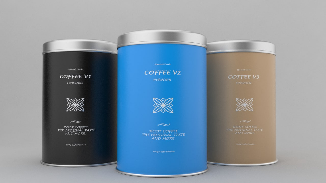 3d model coffee tins v1