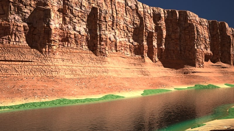 3d canyon river model