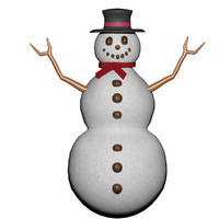snowman snow man 3d ma