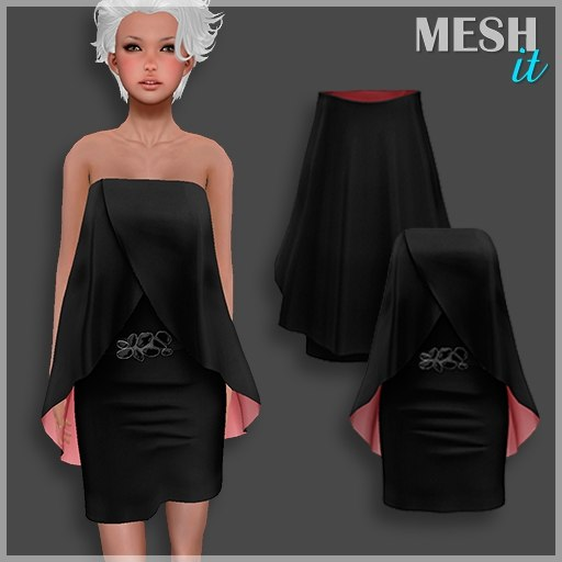 dress black 3ds