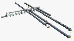 3d melvin price locks river model