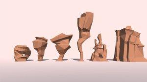 3d model landscape set