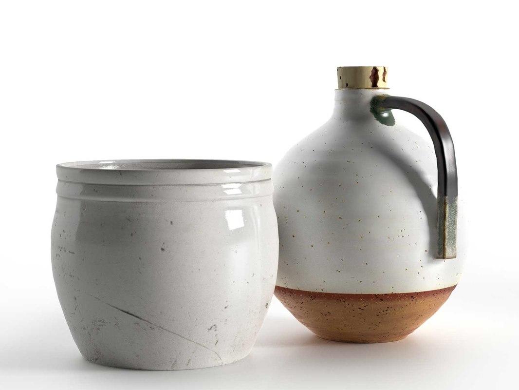 3d model pot jug