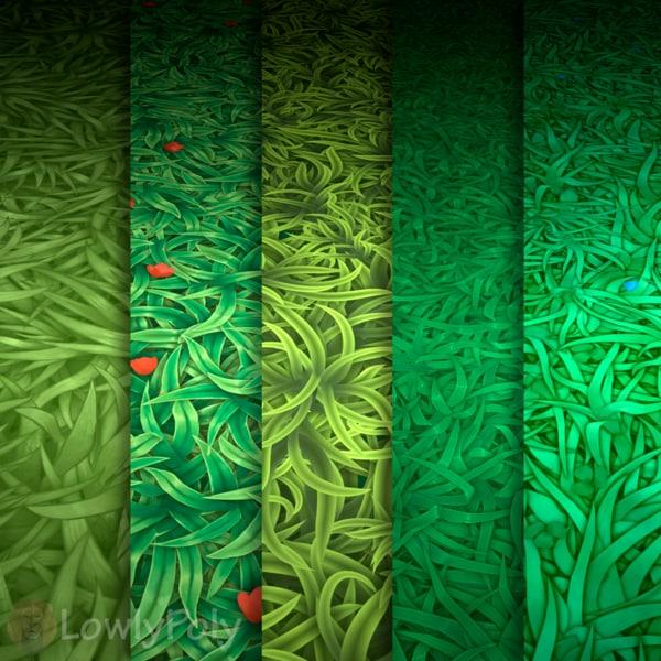 Texture Set Vol.17 Hand Painted Grass