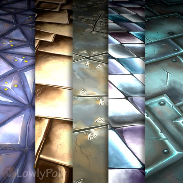 Texture Set Vol.18 Hand Painted Metall