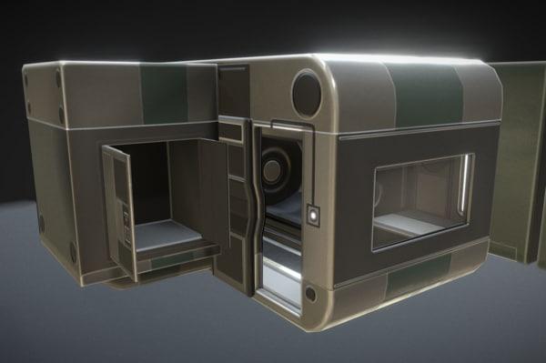 3d futuristic living module basic