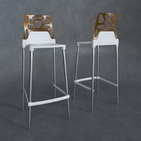 3d model chair ego rock bar