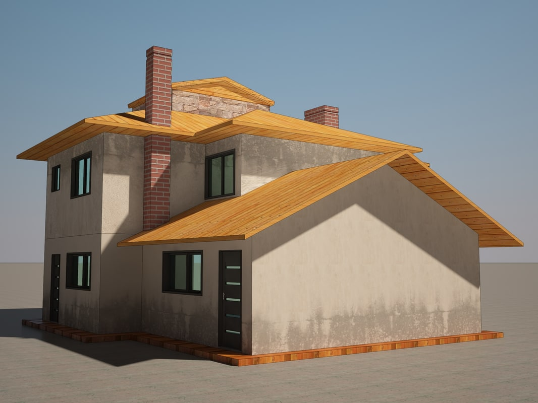 3d model summer house